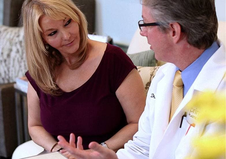 Dr. Gross consulting with a female patient