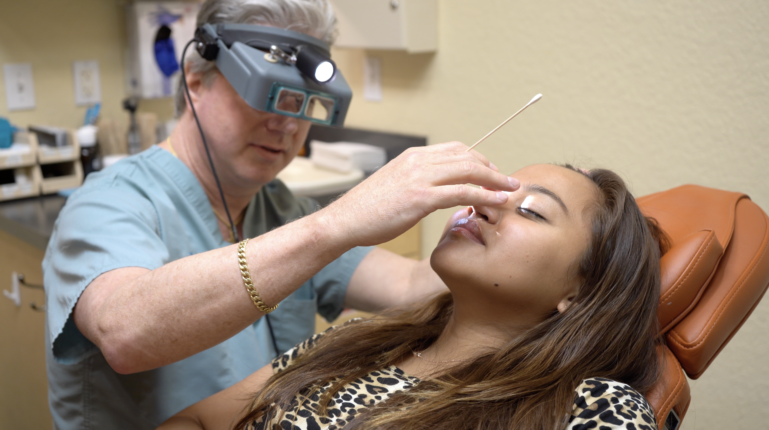 Patient Kirsten T. is examined for cleft lip or palate reconstruction at Primera Plastic Surgery in Lake Mary, Florida